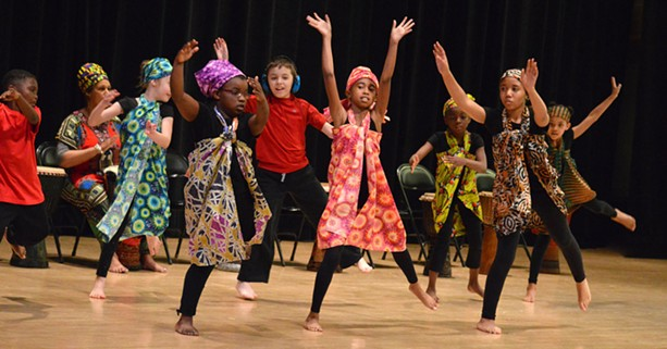 Children perform during a dance gala presentation. - COURTESY OF THE HOCHSTEIN SCHOOL