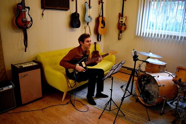 Ben Morey teaching virtually, from The Submarine School of Music's new Brighton location. - PHOTO PROVIDED