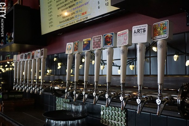 The taps at Three Heads Brewing in Rochester. - PHOTO BY GINO FANELLI