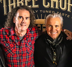 Montage Music Hall's Randy Peck (left) with guitarist Neil Giraldo - PHOTO PROVIDED
