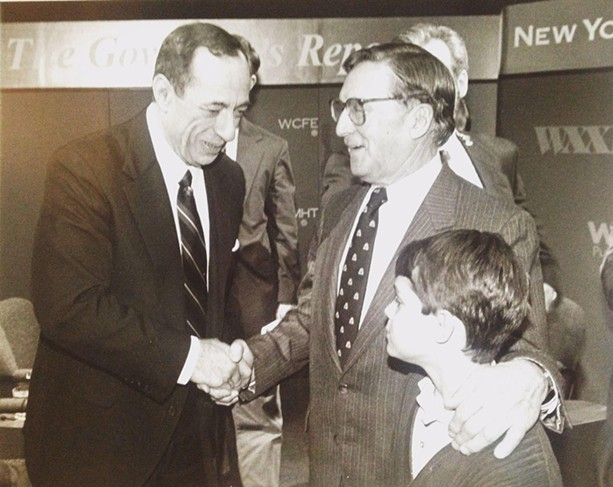 Bill Pearce with former Gov. Mario Cuomo in the mid-1990s. - FILE PHOTO