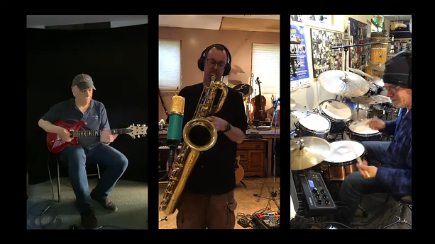 (Left to right) Guitarist Joe Chiappone, bari sax player Mike Edwards, and drummer Dave Cohen. - YOUTUBE SCREENSHOT