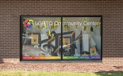 The exterior of Out Alliance's LGBTQ Community Center on College Avenue in the Neighborhood of the Arts. - PHOTO BY JACOB WALSH