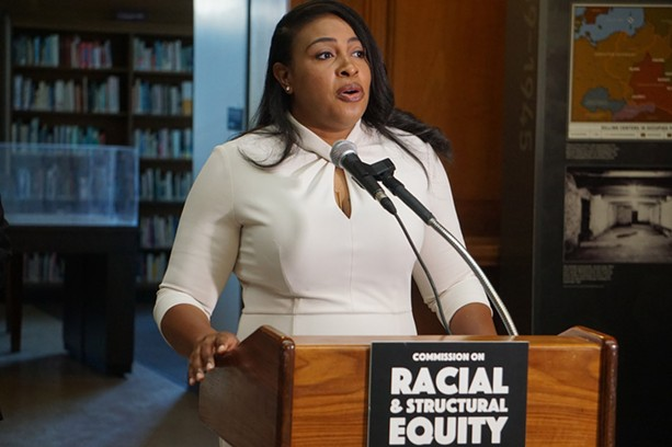 Mayor Lovely Warren joined with County Executive Adam Bello to announce a commission that'll tackle systemic and institutional inequities as well as racism across Monroe County. - PHOTO BY GINO FANELLI