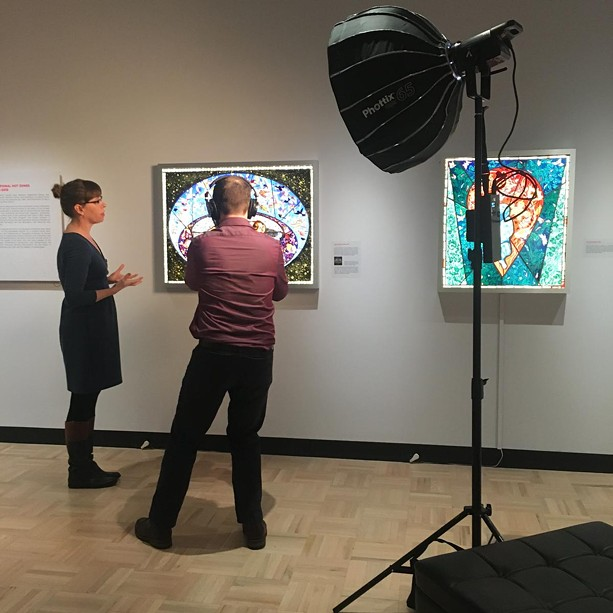 """Jessica Marten and Matthew Mann from the University of Rochester create one of the """"Love Letters to the MAG"""" segments. - PHOTO COURTESY MEMORIAL ART GALLERY"""