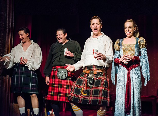 """The Morgans will also present a new iteration of their bawdy, audience-interactive, Bard-based drinking game, """"Shotspeare."""" - PHOTO PROVIDED"""