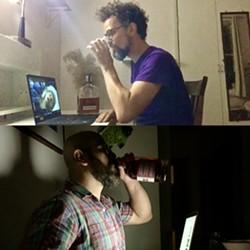 """Daniel McCoy (top) and Michael Niederman of """"Whiskey Flicks."""""""