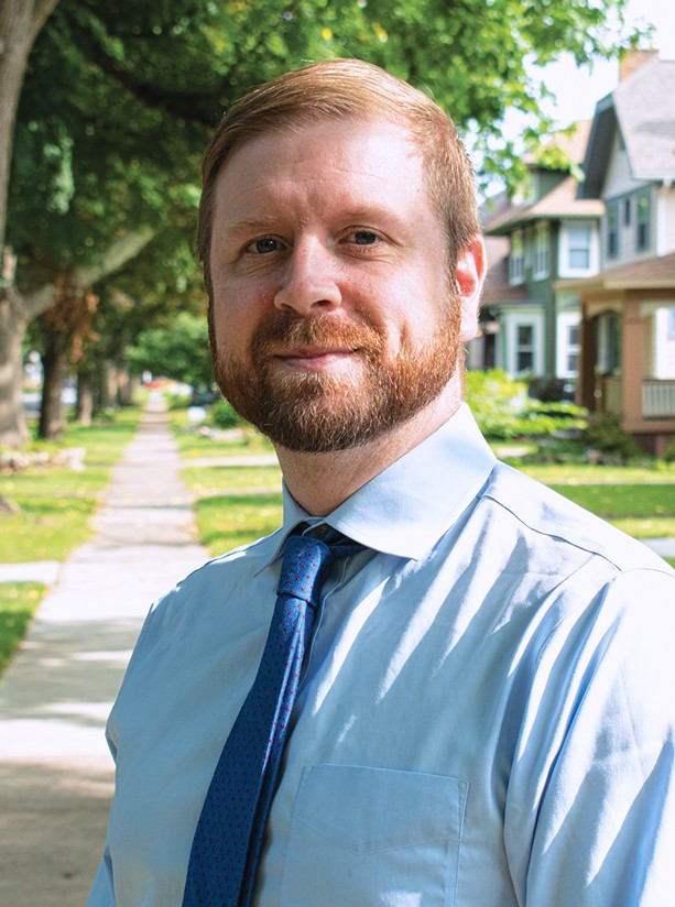 Mark Muoio serves as the housing program director for the Legal Aid Society of Rochester - PHOTO BY JACOB WALSH
