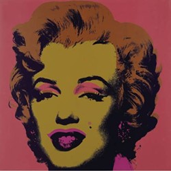 "Andy Warhol's famous Marilyn Diptych painting now on display at the Memorial Art Gallery through March 21, 2021, as part of the gallery's ""Season of Warhol"" exhibit. - PHOTO BY MAX SCHULTE"