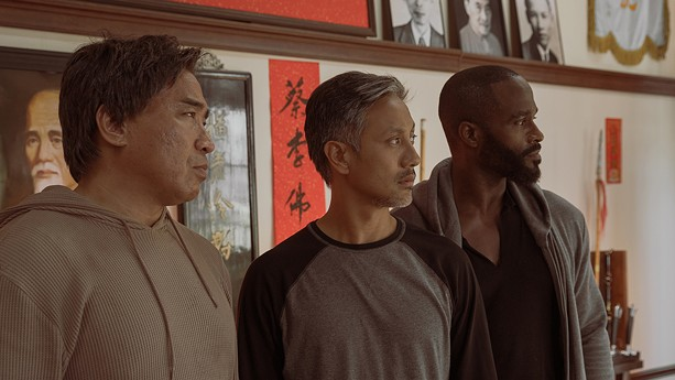 """From left to right: Ron Yuan, Alaim Uy, and Mykel Shannon Jenkins in """"The Paper Tigers."""" - STILL PHOTO PROVIDED BY ANOMALY"""