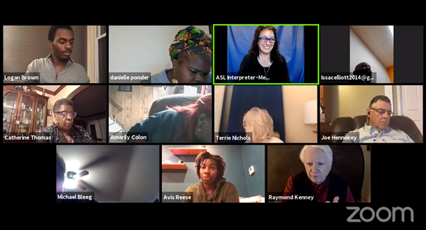 A screen capture from Thursday's Zoom meeting of the Commission on Racial and Structural Equity. - SCREEN CAPTURE BY JAMES BROWN