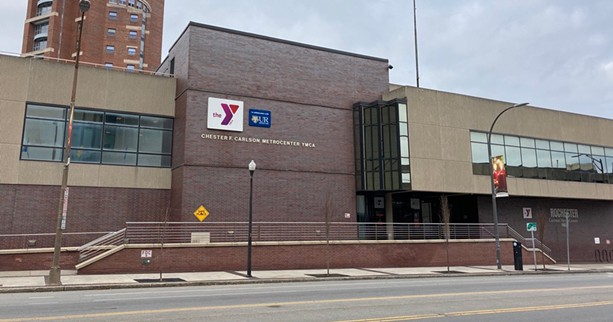The YMCA of Greater Rochester told its members in an e-mail that it's temporarily suspending members operations at the Carlson MetroCenter. - PHOTO BY JEREMY MOULE