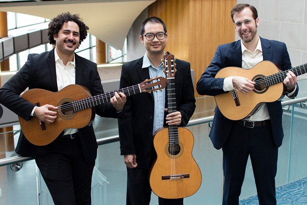 Trio Ghidorah is (left to right) Bernardo Marcondes, Ken Luk, and Erik Gibelyou. - PHOTO BY BYRON FONG