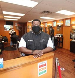 Rochester City Council Vice President at his barbershop on Jefferson Avenue. - PHOTO PROVIDED