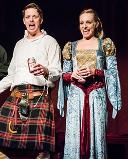 """Matt Morgan and Heidi Brucker Morgan performing in """"Shotspeare Presents: The Complete Works of William Shakespeare, sort of."""" - PHOTO PROVIDED"""