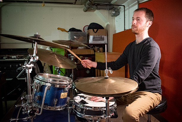"""Composer-drummer Brendon Caroselli refers to his trip-hop-infused, groove-oriented music as """"electronic."""" - PHOTO BY JACOB WALSH"""