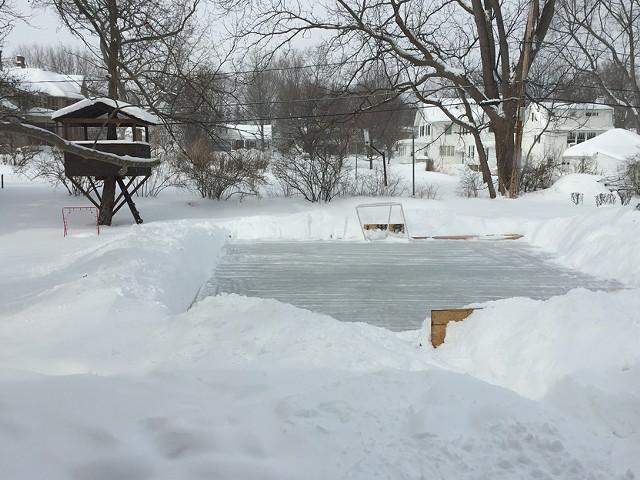 The backyard rink of CITY Editor David Andreatta in Fairport. - PHOTO BY DAVID ANDREATTA