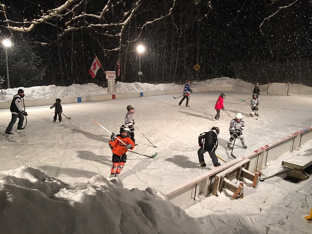 The former Deerbone Arena II, in Perinton, was the envy of backyard rink enthusiasts across Monroe County. - PHOTO BY DAVID ANDREATTA