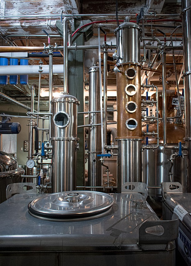 Black Button's production facility puts out upwards of 100,000 bottles per year. - PHOTO BY JACOB WALSH