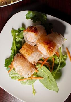 Fried shrimp spring rolls. - PHOTO BY JACOB WALSH