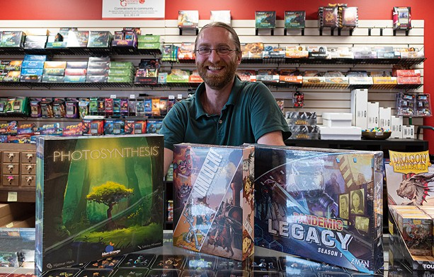 Just Games Rochester's co-owner Matt Vercant at his Penfield Rd. store. - ALL PHOTOS BY JACOB WALSH