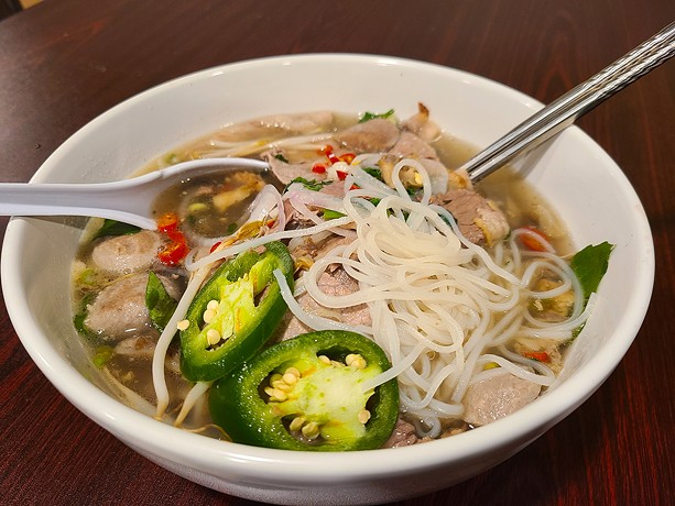 Beef Special Pho at Sweet Basil Cafe. - PHOTO BY VINCE PRESS