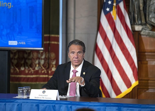 Cuomo at a coronavirus briefing in June, 2020. - CREDIT GOVERNOR CUOMO'S OFFICE