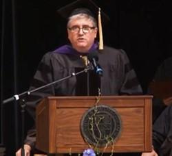 Tim Blodgett addressing Aquinas Institute graduates in 2019. - AQUINAS INSTITUTE/YOUTUBE