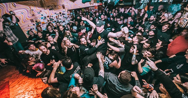 The Rochester metal band Sirens and Sailors playing at the Bug Jar. - PHOTO BY AMBER JAMES