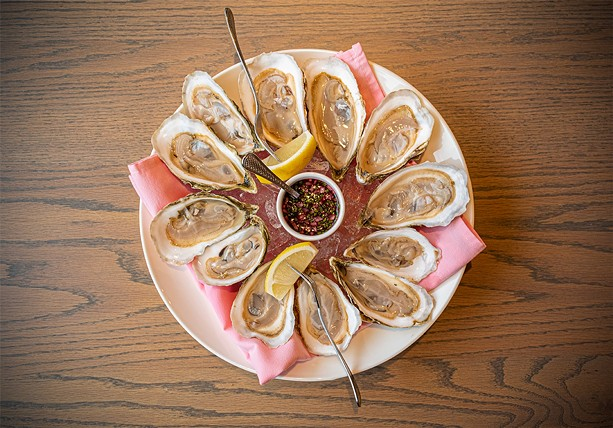 A platter of oysters at the Erie Grill in Pittsford. - PHOTO BY JACOB WALSH