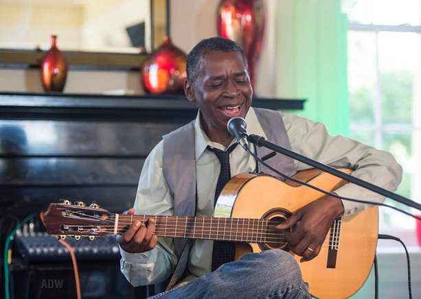 Miché Fambro performs at the Tango Cafe. - PHOTO BY AARON WINTERS