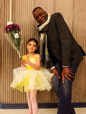 Miché with his granddaughter, Leona Swanson Fambro. - PHOTO PROVIDED