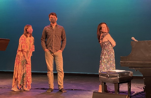"""(Left to right) Kelly Izzo Shapiro, Jon Lewis, and Sarah Eide are the musicians behind the virtual performance of """"You've Got a Friend: The Music of Carole King and James Taylor."""" - PHOTO BY RALPH MERANTO"""