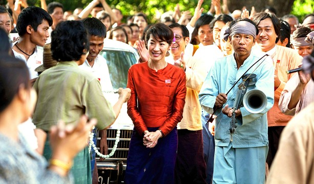"""Aung San Suu Kyi, who in February was again placed under house arrest in Myanmar, is the subject of the 2011 film """"The Lady."""" - PHOTO COURTESY MAGALI BRAGARD / COHEN MEDIA GROUP"""