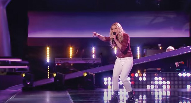 """Amanda Lee Peers performing on NBC's """"The Voice."""" - PHOTO PROVIDED"""