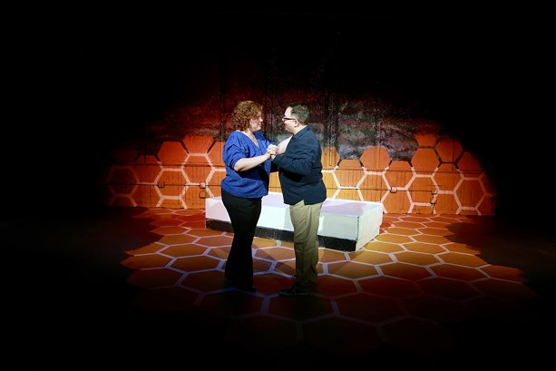"Stephanie and Jeff Suida in ""Constellations,"" presented virtually by Out of Pocket, Inc. - PHOTO BY ANNETTE DRAGON"