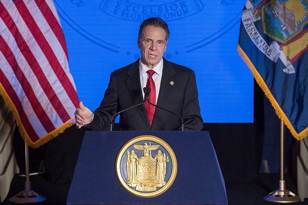Gov. Andrew Cuomo delivers his 2021 State of the State address. - PHOTO PROVIDED BY GOV. ANDREW CUOMO'S OFFICE