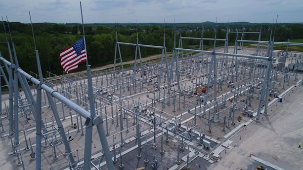 Rochester Gas & Electric transmission system construction. - PHOTO PROVIDED