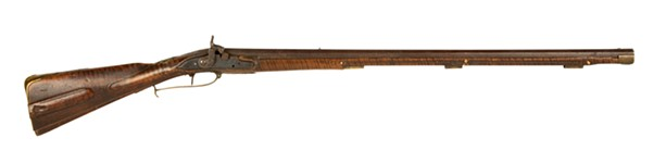 This Kentucky rifle belonging to the Rochester Historical Society fetched $306,000 at auction on May 8, 2021. The price is thought to be an auction record for Kentucky rifles. - COTTONE AUCTIONS