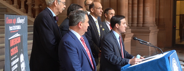 Republicans at the State Capitol on Wednesday, May 19. - PHOTO FROM NEW YORK NOW
