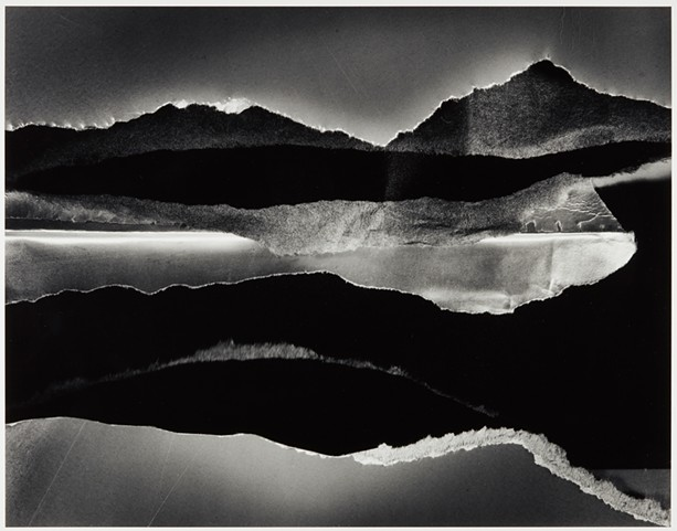 """For much of his career, photographer Carl Chiarenza made collages from ripped paper and other bits of detritus and photographed them, resulting in quietly powerful abstract images such as the 1990 gelatin silver print, """"Untitled 280,"""" seen here. - PHOTO COURTESY GEORGE EASTMAN MUSEUM"""
