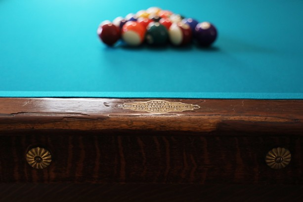 On this table, Martin Luther King Jr.  is said to have played eight ball until the wee hours of the morning, philosophized with fellow seminarians, and emerged from the shadow of his disciplinarian father to become his own man. - PHOTO BY MAX SCHULTE