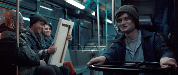 """Charlie Tahan is the driver in the movie """"Drunk Bus,"""" which was shot in Rochester. - PHOTO PROVIDED"""