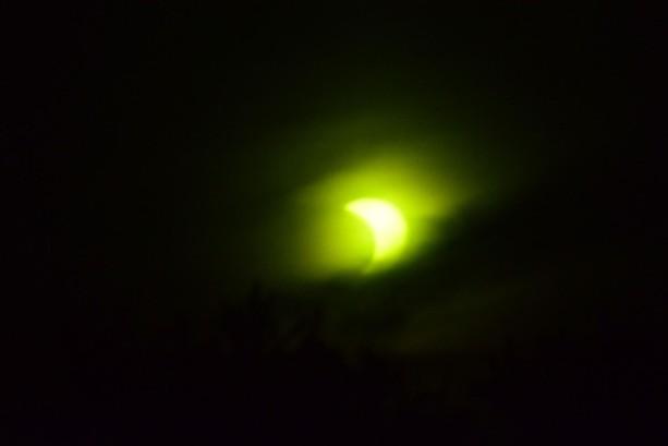A partial eclipse drew crowds Thursday morning. - PHOTO BY SCOTT FYBUSH
