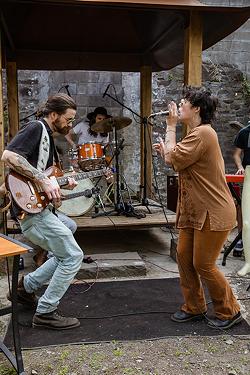 Guitarist Zack Mikida and vocalist Grace Levendusky. - PHOTO BY WILL CORNFIELD