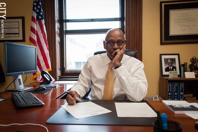 Cedric Alexander as deputy mayor at City Hall in 2018. - PHOTO BY RYAN WILLIAMSON