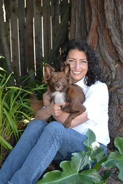 Malena DeMartini with her dog, Tini DeMartini. - PHOTO PROVIDED