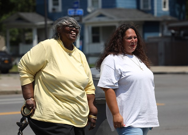 Debbie Smith (left) and Lydia Rivera lead the the Edgerton Area Neighborhood Association. - PHOTO BY MAX SCHULTE