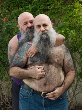 """""""Sky, 64, and Mike, 55, Palm Springs, CA,"""" are a polyamorous couple who have been together for more than 25 years. - PHOTO PROVIDED"""
