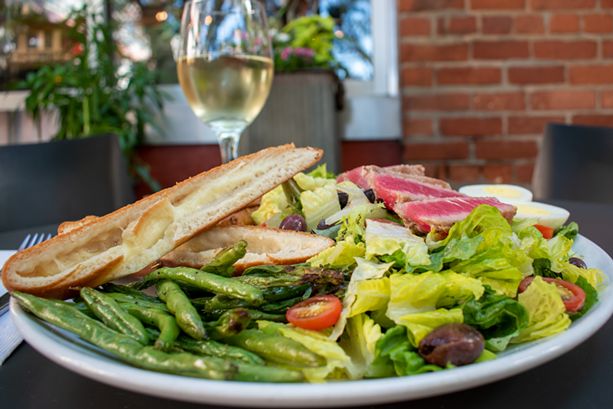 The Durand Niçoise salad from The GateHouse isn't a vegetarian dish, but puts vegetables front and center. - PHOTO BY RYAN WILLIAMSON